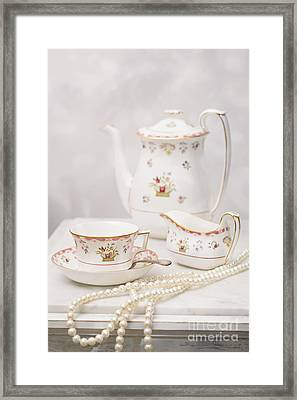 Morning Tea Framed Print by Amanda Elwell