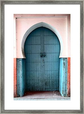 Moroccan Door Framed Print by Sophie Vigneault
