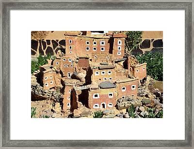 Moroccan Village Framed Print by Sophie Vigneault