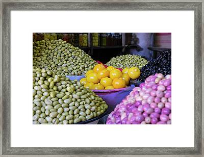 Morocco, Marrakech, Jemma El Efna Framed Print by Emily Wilson