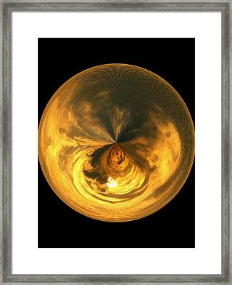 Morphed Art Globe 7 Framed Print by Rhonda Barrett