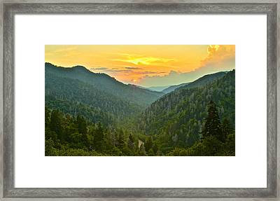 Mortons Overlook Framed Print by Frozen in Time Fine Art Photography