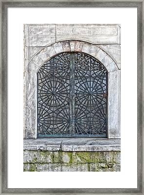 Mosque Window Framed Print by Antony McAulay