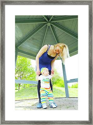 Mother And Baby Boy Framed Print by Wladimir Bulgar