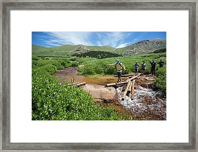 Mount Bierstadt Hiking Trail Framed Print by Jim West