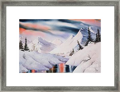 Mountain Majesty Framed Print by Teresa Ascone