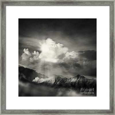 Mountain View Framed Print by Setsiri Silapasuwanchai