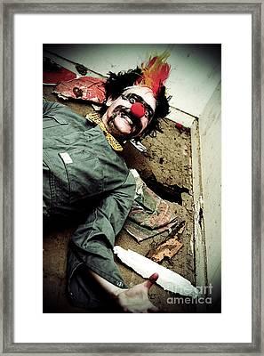 Mr Sleepy The Creepy Clown Framed Print by Jorgo Photography - Wall Art Gallery