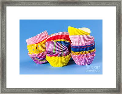 Muffin Cups Framed Print by Elena Elisseeva