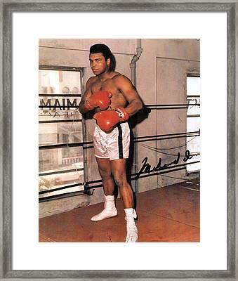 Muhammad Ali Framed Print by Unknown