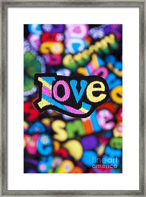 Multicoloured Love  Framed Print by Tim Gainey