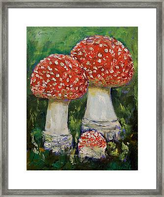 Mushrooms Framed Print by Michael Creese