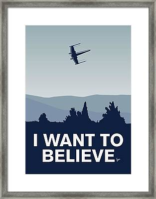 My I Want To Believe Minimal Poster-xwing Framed Print by Chungkong Art