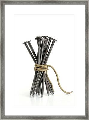 Nails Framed Print by Bernard Jaubert
