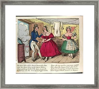 Nancy Dawson Framed Print by British Library