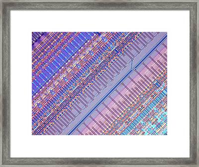Nanoprecision Inkjet Print Head Framed Print by Alfred Pasieka