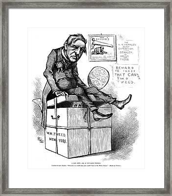 Nast Tilden Cartoon, 1876 Framed Print by Granger