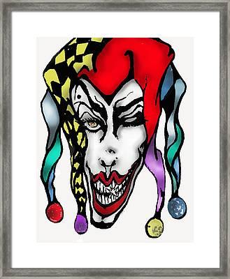 1 Nasty Jester Framed Print by Tiffany Selig
