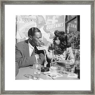 Nat King Cole And His Wife Maria 1954 Framed Print by The Phillip Harrington Collection