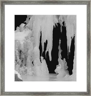 Natures Ice Work Framed Print by Thomas Samida