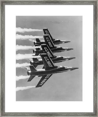Navy's Blue Angels Framed Print by Retro Images Archive