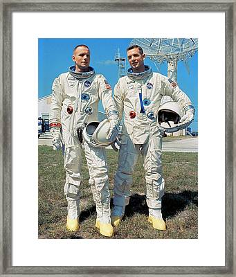 Neil Armstrong And David R. Scott In 1966 Framed Print by Nasa