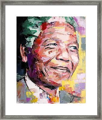 Nelson Mandela Framed Print by Richard Day