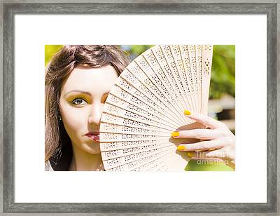 Nervous And Anxious Woman  Framed Print by Jorgo Photography - Wall Art Gallery