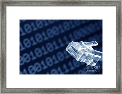 Network  Framed Print by Olivier Le Queinec