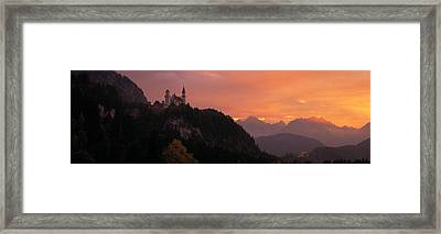 Neuschwanstein Palace Bavaria Germany Framed Print by Panoramic Images