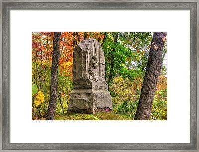 New Jersey At Gettysburg - 13th Nj Volunteer Infantry Near Culps Hill Autumn Framed Print by Michael Mazaika