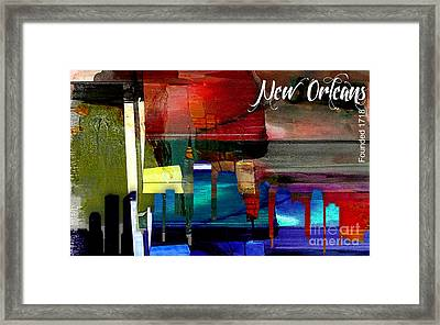 New Orleans Skyline Watercolor Framed Print by Marvin Blaine
