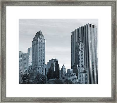 New York City From Central Park Framed Print by Dan Sproul