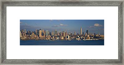 New York City Ny Framed Print by Panoramic Images
