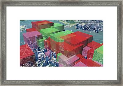 New York City Particulate Air Pollution Framed Print by Adam Nieman