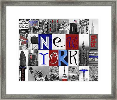 New York Collage II Framed Print by Marilu Windvand