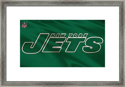 New York Jets Uniform Framed Print by Joe Hamilton