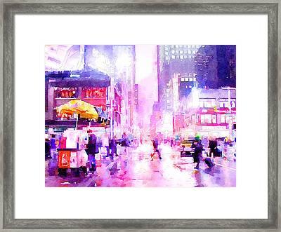 New York Life 8 Framed Print by Yury Malkov