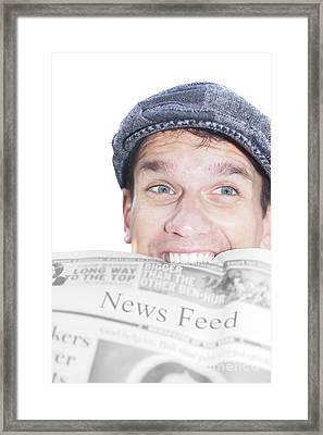 News Feed Framed Print by Jorgo Photography - Wall Art Gallery