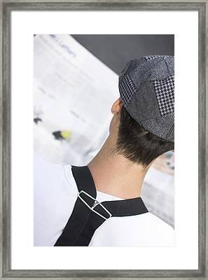 News Reader Framed Print by Jorgo Photography - Wall Art Gallery