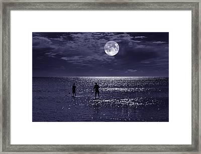 Night Boarders Framed Print by Laura Fasulo