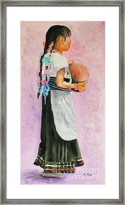 Nina Folklorico Framed Print by Sue Sill
