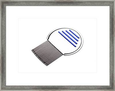 Nit Comb For Removing Headlice From Hair Framed Print by Cordelia Molloy