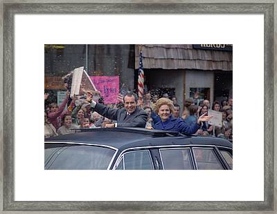 Nixon 1972 Re-election Campaign Framed Print by Everett