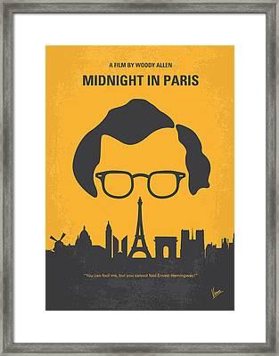 No312 My Manhattan Minimal Movie Poster Framed Print by Chungkong Art