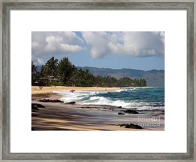 North Shore Framed Print by Christine Stack