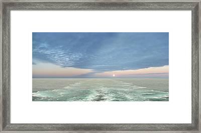 Norwegian Pearl Framed Print by John  Poon