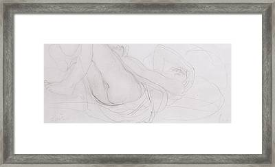 Nude Framed Print by Auguste Rodin