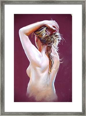 Nude Study Framed Print by Lynda Robinson
