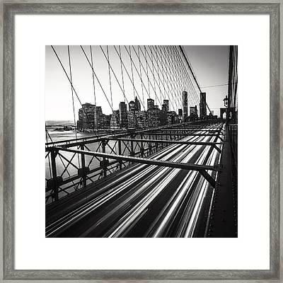 Nyc Brooklyn View Framed Print by Nina Papiorek
